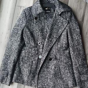 Express Wool Tweed Jacket peacoat EUC